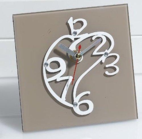 Orologio da tavolo scrivania cuore stilizzato bomboniera matrimonio