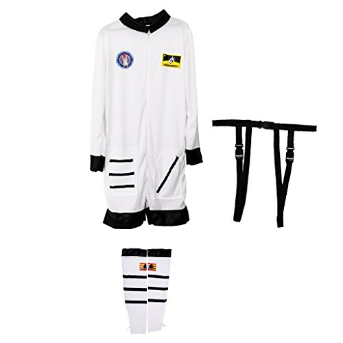 n-Kostüm Damen Kostüm Astronaut Astronautenkostüm Astronauten-Overall Weltraum Größe (Weltraum-outfits)