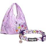 Blueberry Pet Hundehalsband, 12 Muster, Blumenmuster, Passende Leine und Geschirr separat erhältlich, Medium Collar + Shopping Bag, Garden Floral - Lavender