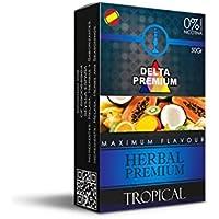FumandoEspero Hierbas Premium Delta para shisha SIN NICOTINA - Sabor: Tropical. (50 gr) - Sustitutivo de tabaco sin nicotina para cachimba