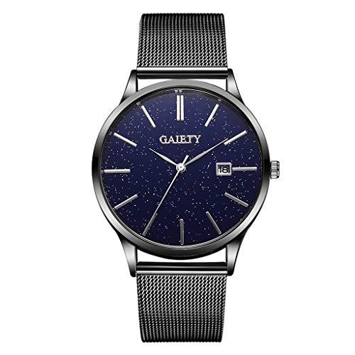 SUNFANY Männer Frauen Uhren Mode Ultradünne Minimalistische Uhren Luxusgeschäft Edelstahlgewebe Band Quarzuhr