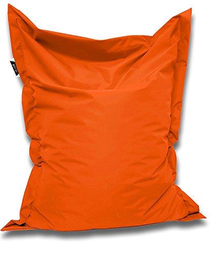Patchhome Sitzsack und Sitzkissen Eckig - Orange - 180x145cm - in 25 Farben und 7 versch. Größen
