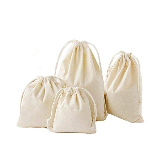 Abaría - 4 unidades bolsa algodón cuerdas