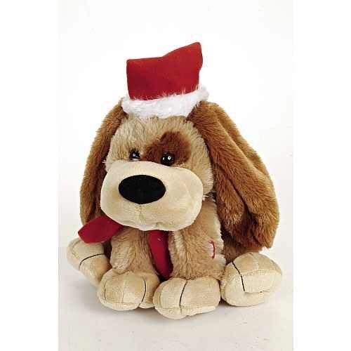 BAKAJI Plüschtier Hund Weihnachten mit Sonori und Movie, 30 cm, Mehrfarbig, 8711252977072