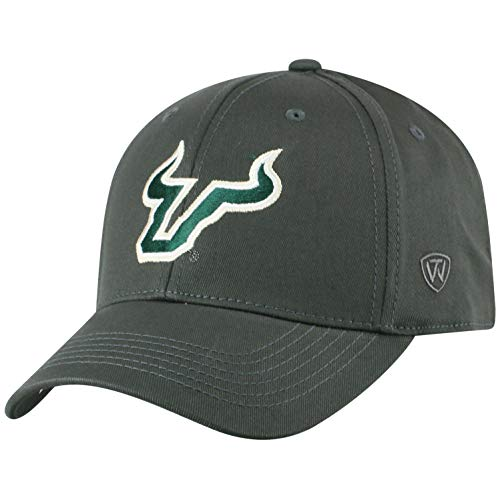 Top of the World Herren Mütze NCAA Fitted Charcoal Icon, Herren, NCAA Men's Fitted Hat Relaxed Fit Charcoal Icon, South Florida Bulls Charcoal, Einstellbar Usf Bulls