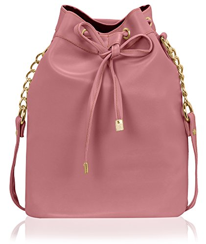 Kleio Stylish Solid Color Bucket Sling Bag for Women / Girls (Peach) (EDK1036KL-PE)