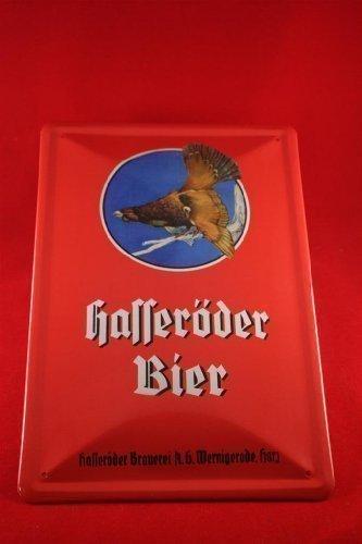 hasseroder-bier-blechschild-20x30-cm-wernigerode-rot-hochkant-auerhahn