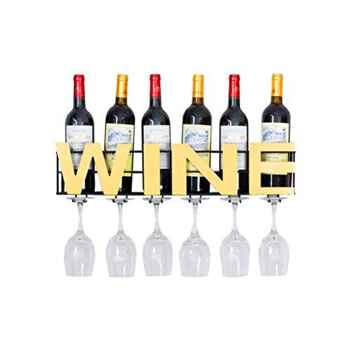 Flasche Einzige Eine Wein-rack (SAN QIAN WAN- Wand montiert Metall Weinregal 6 lange Stem Glas Halter & Weinkorken Lagerung Weinregal)