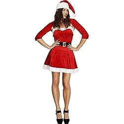 Smiffy's Disfraz de Mamá Noel para mujer
