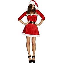 Smiffys - Disfraz de Mamá Noel para mujer