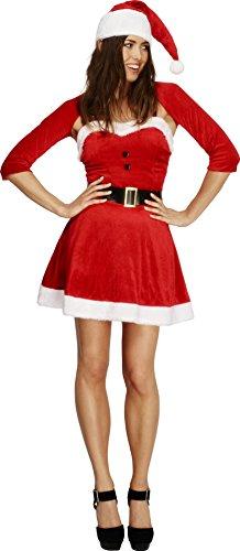 abe Kostüm, Kleid, Mütze, Bolero und Gürtel, Größe: S, 20770 (Santa-mützen)