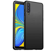 Wuzixi Case for Samsung Galaxy A7 2018. Resilient Shock Absorption and Ultra Thin Design Cover, Rubberized Hard PC Back Case, Case Cover for Samsung Galaxy A7 2018.Black