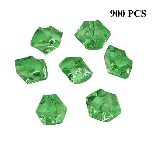 ine   Kunststoff Piraten Juwelen Schatz gefälschte Edelsteine   Diamant Kristall Felsen Strass für Kunst und Handwerk Vase Füller Tisch streut Hochzeit Geburtstag Dekoration - grün ()