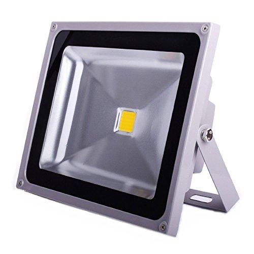 SAILUN 20W LED Fluter Strahler Licht Scheinwerfer Außenstrahler Wandstrahler Silber Aluminium IP65 Wasserdicht AC 85-265V WarmWeiß -