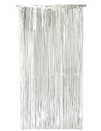 Islander Fashion Lametta Schimmer Folie T�r Fringe Vorhang Phantasie Hochzeit Dekoration Zubeh�r Silber Einheitsgr��e