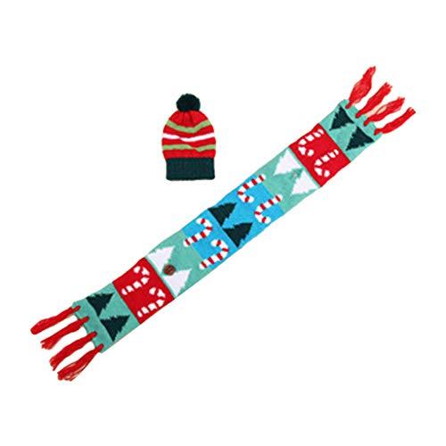 Ruda Weinflaschenbezug für Weihnachten, Mütze, Schal, Weihnachten, Weihnachtsmann, Tischflaschen, Dekoration, 02, Einheitsgröße