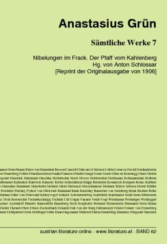 Sämtliche Werke 7: Nibelungen im Frack. Der Pfaff vom Kahlenberg Hg. von Anton Schlossar [Reprint der Originalausgabe von (Grüne Frack)