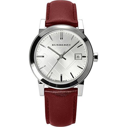 Burberry BU9129-Uhr für Frauen, Leder-Armband Rot