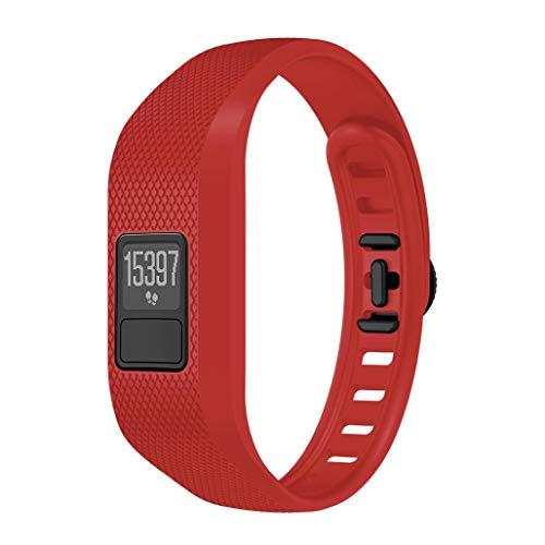 Bestow Garmin Vivofit 3 Correas Pulseras Accesorios Correa de Silicona Suave Reloj Inteligente Electronics Gadgets Reloj Reloj(Rojo)