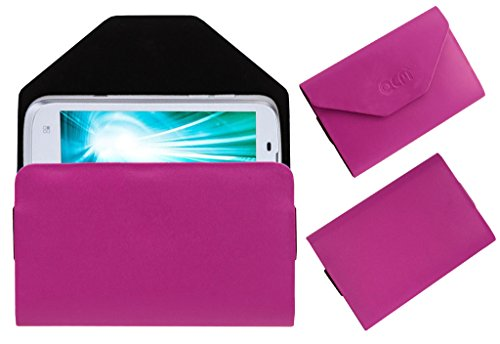 Acm Premium Pouch Case For Lava Xolo A800 A-800 Flip Flap Cover Holder Pink  available at amazon for Rs.179
