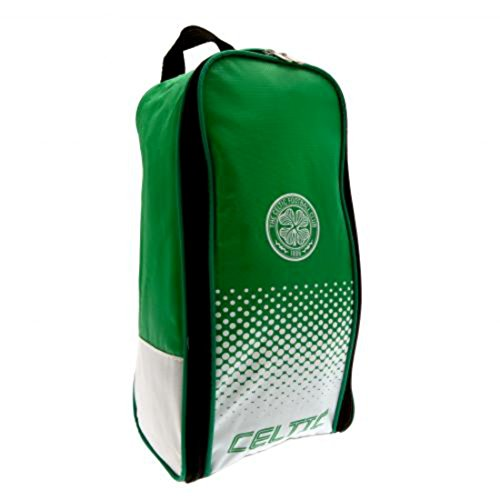 Celtic-Fc-Boot-Bag-Nylon-Bootbag-Zipped-Opening-Double-Zip-Pulls-Approx-35cm-X-18cm-X-12cm