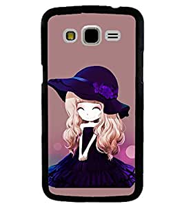 Printvisa Animated Girl With Puple Dress And Hat Back Case Cover for Samsung Galaxy J5::Samsung Galaxy J5 J500F