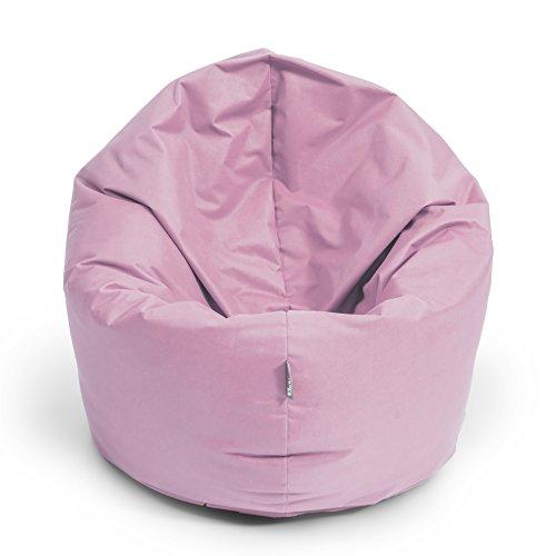 Sitzsack BuBiBag 2-in-1 100cm durchmesser Funktionen mit Füllung Sitzkissen Bodenkissen Kissen Sessel BeanBag Joga 30 Farben (puderrosa)