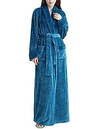 Pronghorn Vestido Largo para Mujer Vestido de Polar Albornoz Ropa de Dormir