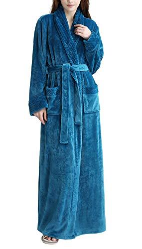 Señoras Womens Fleece Bata Lujo Franela casa Abrigo