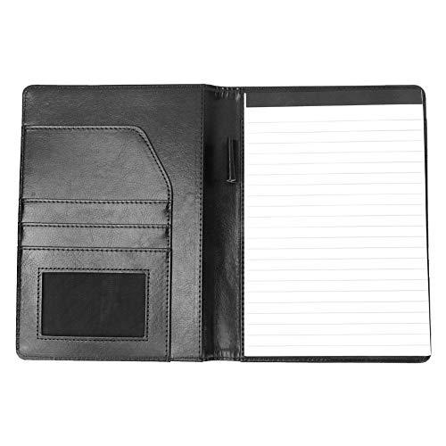 KEYREN PU-Leder-Binder-Datei-Ordner Notebook Document Organizer Tasche Buch mit Kartenpositionen Quick Mark Post Notes Office Home Memo