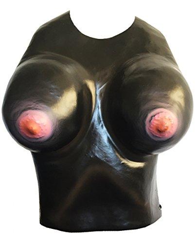 Falsche schwarze Korsett Brüste Doppel-D für Fasching & JGA