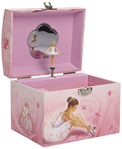 Trousselier S90974 - Scatola musicale portagioie, motivo: Ballerina, colore: Rosa