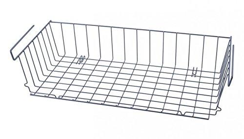 Quantio Schrankkorb Zum Einhängen - 56 x 25 - Metall - Grau - Regalkorb - Aufbewahrungskorb - Gewürzregal - Küchenregal - Schrank - Regal - Einhängekorb