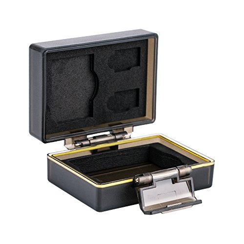 JJC Multifunktions Batteriegehäuse Kamera Akku Schutzbox und Speicher Fall Passend für Fujifilm NP-W126 / JJC B-W126 und 1 x SD, 2 Mikro-SD-Karten