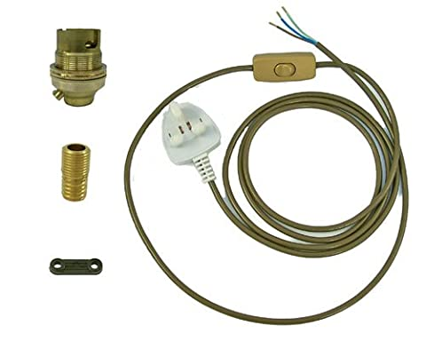 Brass Lamp Kit 8 for wiring of wooden lamp