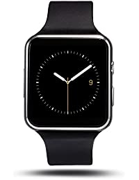 Soloking T60 Smartwatch,Bluetooth 3.0 Reloj Inteligente 1.54''Curved Screen Fitness Tracker con Cámara,Sim/TF Tarjeta,Podómetro,SMS, Whatsapp,Facebook Notificaciones para Android y ios Teléfono Inteligente(Negro)