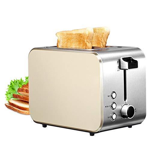 Frühstück Rostfreier Stahl Toaster, 2 Slice Toaster mit Stornieren Aufwärmen Auftauen Funktionen,...