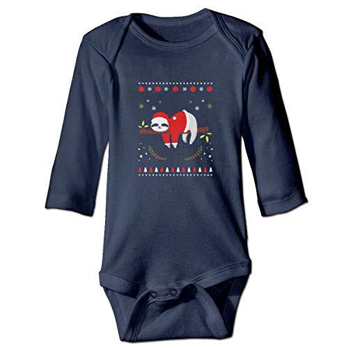 WBinHua Bodysuits Baby Body, Bertha Cute Sloth Ugly Christmas Baby Unisex Long Sleeve Onesies Bodysuits