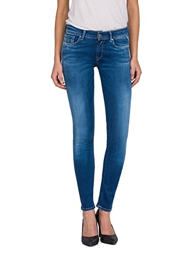 Replay Damen LUZ Skinny Jeans, Blau (Mid Blue Denim 10), W28/L30