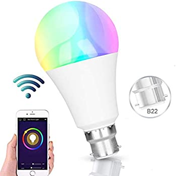 Smart Bulb, WiFi Alexa Light Bulbs, RGBW Colour Change Bulbs Dimmable,  Compatible with Alexa and Google Home, 60W Equivalent, Timing Function,  Remote