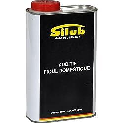 SILUB - Additif Fioul Domestique (chaudière, cuve, etc) 1 L traite 3 000 L de combustible - Agit contre l'encrassement, les dépôts et bactéries