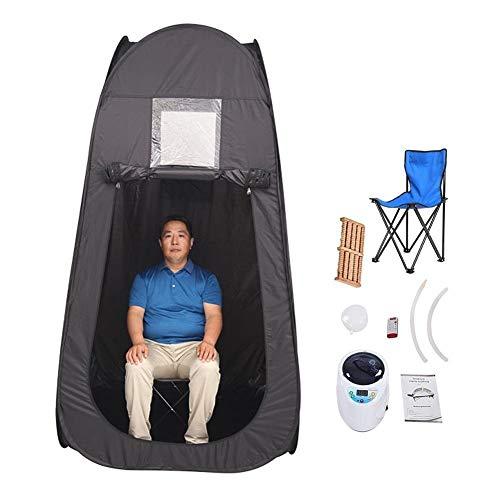 Tragbar Sauna Dampf Kits Zuhause Innen Spa Saunakabine Intelligent Fernbedienung 2L Begasung Instrument Toxin Entfernen Und Abnehmen (Color : Pink)