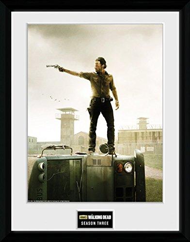 Preisvergleich Produktbild 1art1 100336 The Walking Dead - Season 3 Gerahmtes Poster Für Fans Und Sammler 40 x 30 cm