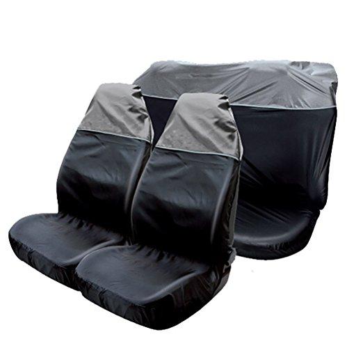 Schwarz Sitzbezug Baby Auto (TanYoo universal wasserdichte Autositzbezüge Schonbezug Vordersitzabdeckung Sitzbezüge für Auto, (Farbe: Schwarz))