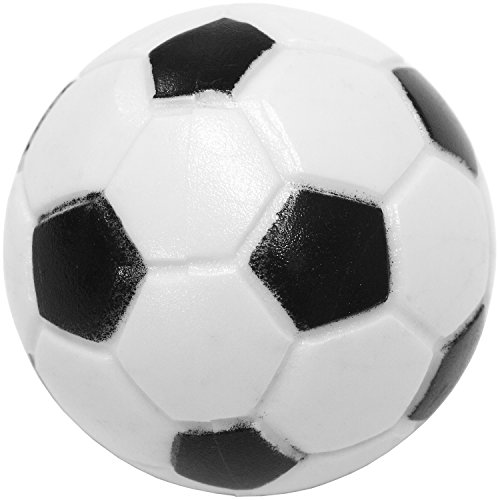 12 Stück Kicker Bälle Mischung, 6 verschiedene Sorten (2x Kork, 4x PE, 2x PU, 4x ABS), Durchmesser 35mm, Tischfussball Kickerbälle, Ball -