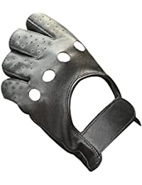 TopTie Soft PU Leather Motorcycle Gloves, Black Motorcycle Gloves
