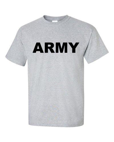 ARMY logo T-Shirt L, grau (T-shirt Grau Army Logo)
