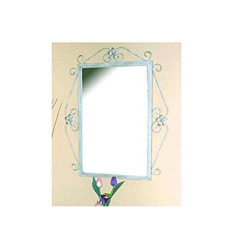 Espejo de forja Ainhoa - Blanco con oro