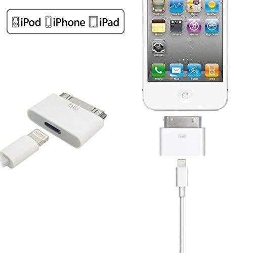LIUXIA Adapter (8-polig weiblich auf 30-polig männlich, kompatibel mit iPhone 4 / 4S / iPad 2/3 / iPad Touch3 / 4)