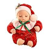 OUTEYE Regalo di Natale in Ceramica calzino Rosso Musical Box Christmas Baby Music Box Compleanno per i Bambini